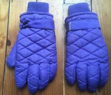 Unisex Men Women Cold Weather Thinsulate Ski Winter Gloves Purple