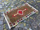 Small rug, Geometric handmade rug, Turkish bohemian rug | 1,7 x 2,8 ft