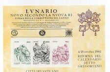 Vatican : 1982 Gregorian Calendar ( Minisheet ) MNH