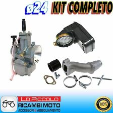 Carburettor Complete Polini Pwk Ø 24 + Manifold 2 Holes Vespa Special 50 125
