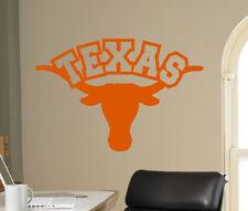Texas Longhorns Wall Decal NCAA College Football Emblem Vinyl Sticker Art (40nc)