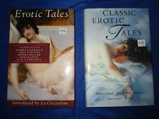 Erotic Tales 1993 & Classic Erotic Tales 1994 Castle Books HCDJ Updike Stoker FN