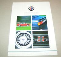 Prospekt - Umrüstung BMW 3er E30 316 - 325i, M3  in BMW Alpina  - Ausgabe 1988