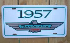 White 1957 Ford THUNDERBIRD License plate tag 57 CLASSIC BABY BIRD T-bird