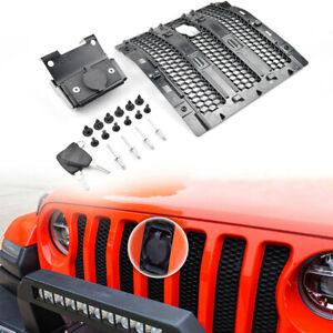 Hood Lock Anti-Theft Security Device fits Jeep Wrangler JL/Gladiator JT with Key