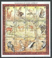 PK185 GAMBIA FAUNA ANIMALS OF WEST AFRICA 1SH MNH STAMPS