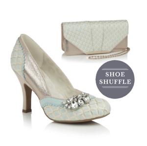 Ruby Shoo Fabia & Tblisi Sky Blue High Heel&Bag Wedding Event Occasional Causal