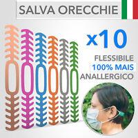 10 Salva Orecchie per Mascherina Flessibili e Anallergici - Made in ITALY
