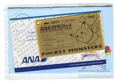 JAPANESE Pokemon ANA PROMO Gold BOARDING PASS card PIKACHU UNUSED
