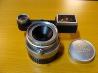 """Leitz Wetzlar - Leica Summaron-M 3.5/35mm+ Nahbrille """"guter Zustand"""" - RAR"""
