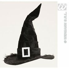 Velvetet Witch Hat with Plush Trim for Halloween Fancy Dress Accessory
