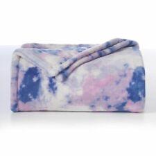 The Big One Oversized Tie Dye Super Soft Throw Blanket 5' x6 ft - NEW Purple