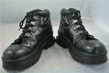 CATERPILLAR BLACK LEATHER ANKLE BOOTS SIZE 9UK Great