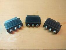 3x Cinch AV auf Scart Adapter - SNES Sega Saturn N64 Mega Drive Dreamcast VHS ++