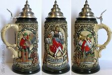 Traditional Munich German Oktoberfest Lidded Beer Stein Mug Krug  2012 - 1 Liter
