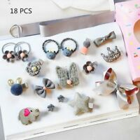 Kids Headwears Sets Hair Accessories For Girls Ribbon Bow Rabbit Hairclips Gifts