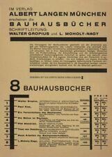 """LASZLO MOHOLY-NAGY """"Bauhausbücher"""" , 1925, Reproduction Bauhaus Poster"""