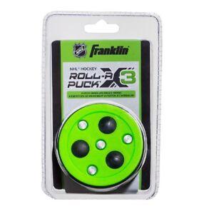 Franklin NHL Street Hockey Roll-A Puck X3, Rolling Balls For Gliding, Green
