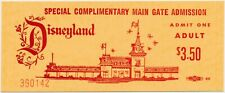 Vintage 1965 Disneyland MAIN GATE ADMISSION Complimentary Ticket UNUSED MINT