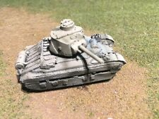 1/100th (15mm) WWII British Painted Matilda IICS Infantry Tank A-12  Model