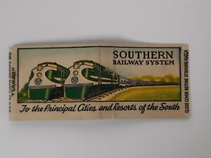 SOUTHERN RAILWAY SYSTEM matchbook UNUSED Art Deco Tennessee GREEN 1930s