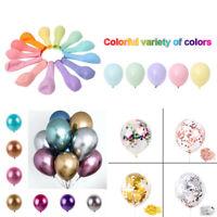 "50/100pcs 12"" Mixed Neon Color Latex Balloons Celebration Party Wedding Birthday"