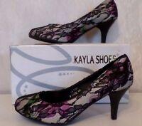 Ausgefallene Damenschuhe Schuhe Pumps High Heels Spitze Kayla Shoes Gr.40 NEU