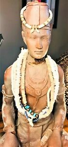 💙 Spirited Vintage Bohemian Hippie Nature Freak Sea Bum Pukka 4 Necklaces Cuff