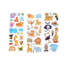 Kids Toys Cartoon Cute Animals Zoo 3D Stickers Children Girls Boys PVC StickerWF