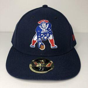 Men's Classic Boston Patriots New Era Navy Low Profile 59FIFTY Hat Grey UV 7 1/8