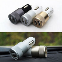 Universal Car Charger Adaptor Bullet Dual USB 2-Port for iPod iPhone Samsung HTC