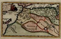 North Africa Morocco Algeria Atlas Canary Islands 1711 Cluverius decorative map