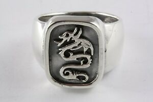 ZYCX123 Herren Ring Drachenschuppe Drachen Muster abgeschr/ägten Kanten Ringe Titan Stahl Schmuck Ring f/ür Partei Daily Life 8