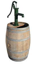 Holzfass, Fass Eichenfaß Weinfass Regentonne Handschwengelpumpe, Handpumpe Pumpe