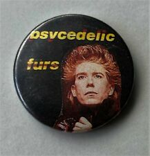 More details for psychedelic furs old metal button badge from the 1980's retro pop rock indie