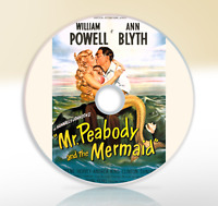 Mr. Peabody and the Mermaid (1948) DVD Classic Comedy Film Movie William Powell