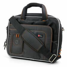 "Black/Orange Carry Cover For Samsung Chromebook (WiFi 11.6"") With Shoulder Strap"
