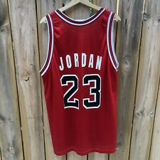 Vintage 90's Champion Michael Jordan Red Bulls Jersey (White Letters)