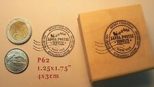 P62 Christmas postal stamp rubber stamp