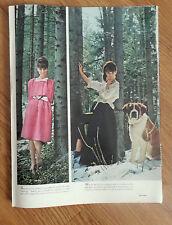 1962 Photo Article Ad Audrey Hepburn & St Saint Bernard Dog