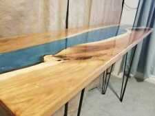 "Epoxy Resin Blue Table Top ""6x3"" For Dinning Table ""35"" MM width (Top Only)"