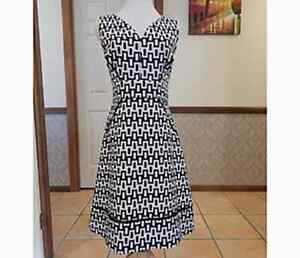 Taylor Black and White Dress - AUS Size 10-12