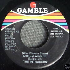 The INTRUDERS Soul 45 She's A Winner/Memories are here to stay GAMBLE MINT- a527