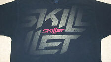 Large Logo SKILLET Christian Rock Band T-Shirt Size XL Tour Metal Punk Emo