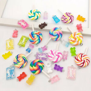 32Pcs Mix Gummy Bear Candy Resin Charms for DIY Bracelet Necklace Earring MaBDA