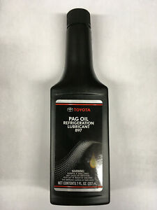 GENUINE TOYOTA REFRIGERANT AIR CONDITIONING PAG OIL 70Z BOTTLE