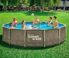 Brand New Summer Waves Active Metal Frame 14 ft Above Ground Pool Ships Next Day