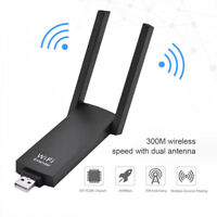 300Mbps Wireless USB Repeater Amplifier WiFi Extender For Laptop PC New SU
