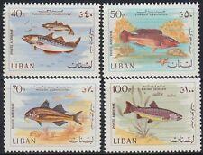 Libanon Lebanon 1966 ** Mi.1029/32 Tiere Animals Fische Fish Wasser [st1157]