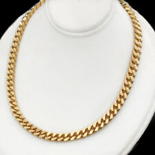 """ALL SIZES 16""""-24"""" 5mm SQUARE CURB Link 14K GOLD GL Solid Chain Necklace  GUARANT"""